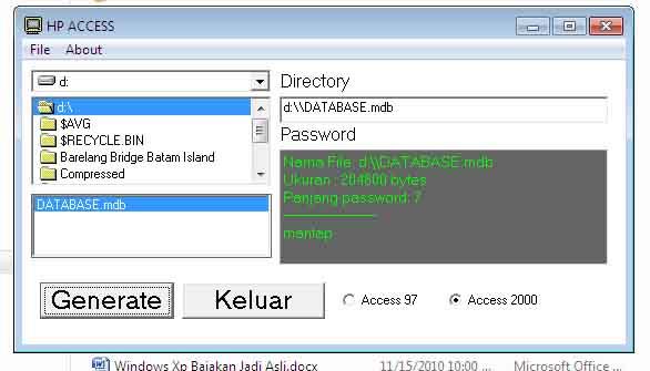 Hacking Password Pada Database Access Salamilmu S Blog